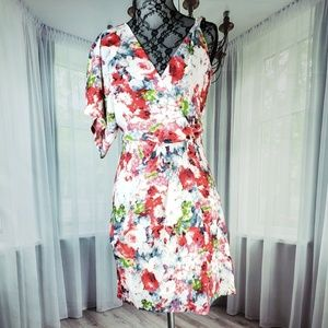 Hommage Watercolor Floral Dress